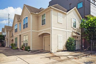 Houston Condo/Townhouse For Sale: 1618 W Webster Street