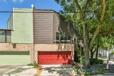 Houston Condo/Townhouse For Sale: 3519 Graustark Street #9