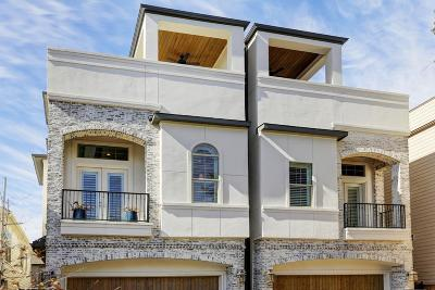 Houston TX Single Family Home For Sale: $849,000