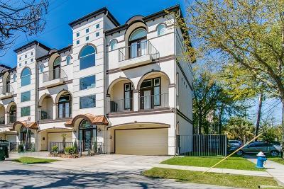 Houston Condo/Townhouse For Sale: 1301 Birdsall Street #A