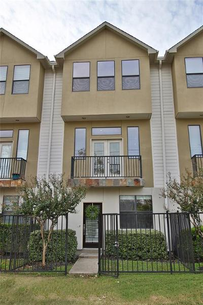 Houston Condo/Townhouse For Sale: 2300 Union Street #2300F