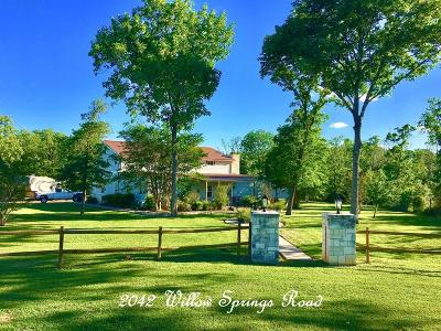 Fayette County Farm & Ranch For Sale: 2042 Willow Springs Road