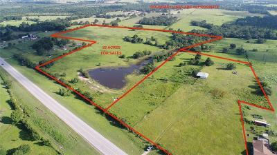 Navasota Farm & Ranch For Sale: 27.37 Acres Hwy 105