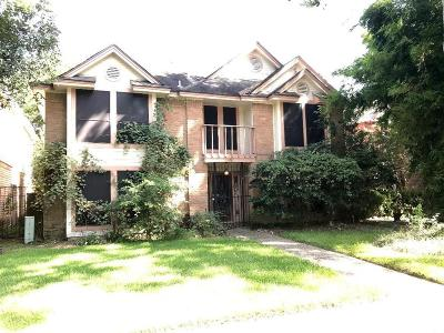 Houston TX Single Family Home For Sale: $129,000