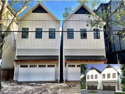 Houston Single Family Home For Sale: 1318 W 21 Street #A