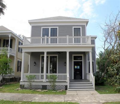 Galveston Single Family Home For Sale: 1619 Post Office Street