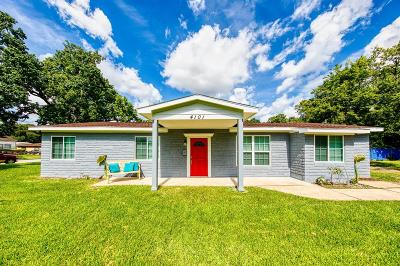 Houston Single Family Home For Sale: 4101 Dabney Street