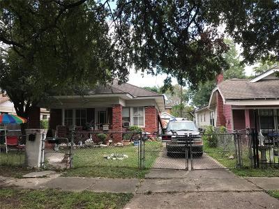 Houston Single Family Home For Sale: 1505 Elliott Street
