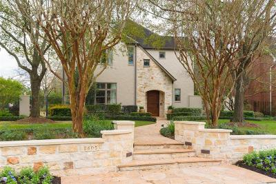 Houston TX Single Family Home For Sale: $3,595,000