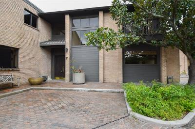 Houston Condo/Townhouse For Sale: 8800 Woodway Drive #11