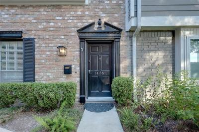 Harris County Condo/Townhouse For Sale: 14351 Lost Meadow Lane
