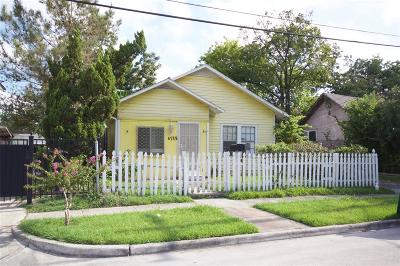 Houston Single Family Home For Sale: 6715 Avenue N