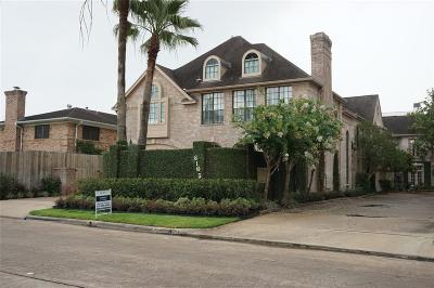 Houston Condo/Townhouse For Sale: 6105 Inwood Drive #A