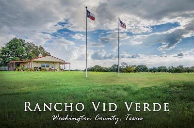 Washington County Farm & Ranch For Sale: 5955 Fm 2502