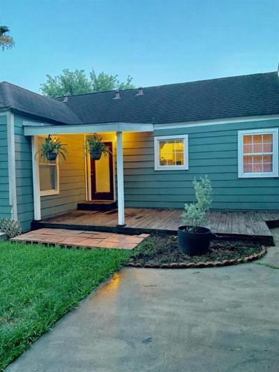 Houston Single Family Home For Sale: 7639 Joplin Street