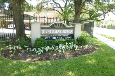 Houston Condo/Townhouse For Sale: 1601 S Shepherd Drive #55
