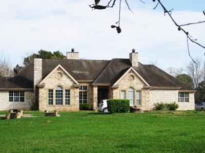 Manvel Single Family Home For Sale: 9020 Mustang Bayou Road