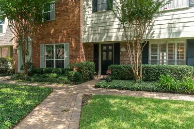 Houston Condo/Townhouse For Sale: 5859 Doliver Drive #14