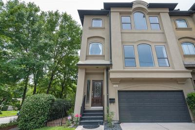 West University Place Condo/Townhouse For Sale: 5138 Academy Street