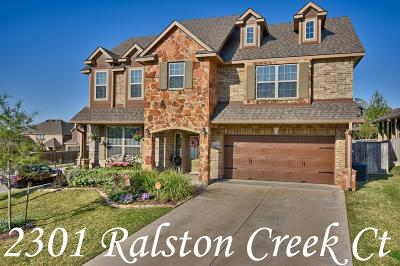 Single Family Home For Sale: 2301 Ralston Creek Court