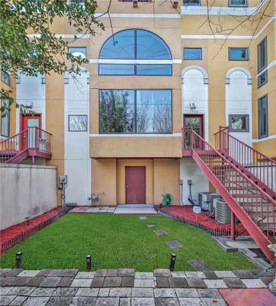 Houston Condo/Townhouse For Sale: 1722 Montrose Boulevard