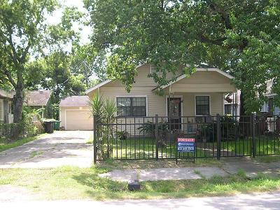 Houston Single Family Home For Sale: 1203 Cordell Street