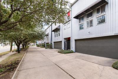 Houston Condo/Townhouse For Sale: 219 W Gray Street