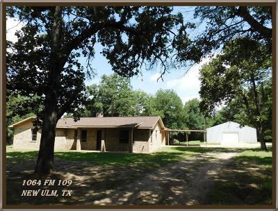 New Ulm Farm & Ranch For Sale: 1064 Fm 109
