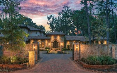 The Woodlands TX Single Family Home For Sale: $3,999,000