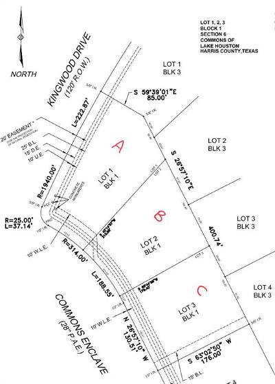 Huffman Residential Lots & Land For Sale: 411 Commons Enclave