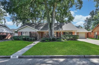 Houston Single Family Home For Sale: 1815 Bethlehem Street