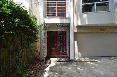 Houston Condo/Townhouse For Sale: 4211 Childress Street #C