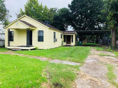 Houston Single Family Home For Sale: 3414 Trout Street