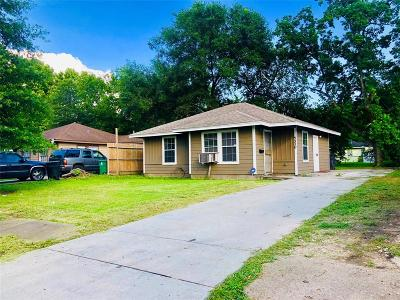 Houston TX Single Family Home For Sale: $120,000