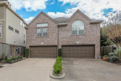 Houston Condo/Townhouse For Sale: 3309 W Lamar Street #A