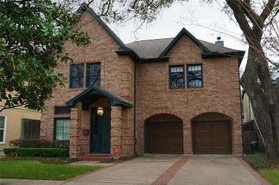 Houston Single Family Home For Sale: 3919 Coleridge Street