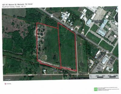 Mabank Acreage For Sale: 901 W Mason