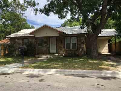 Burnet Single Family Home For Sale: 304 E Live Oak