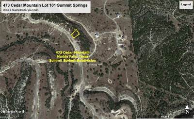 Marble Falls Residential Lots & Land For Sale: 473 Cedar Mountain