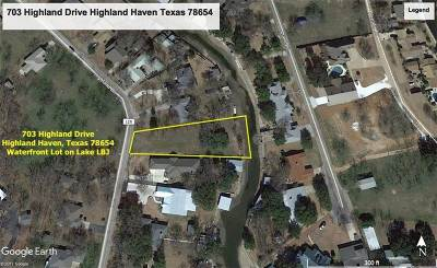 Marble Falls Residential Lots & Land For Sale: 703 Highland