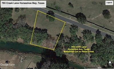 Horseshoe Bay Residential Lots & Land Pending-Taking Backups: 793 Creek