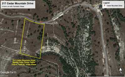 Marble Falls Residential Lots & Land For Sale: 217 Cedar Mountain Drive