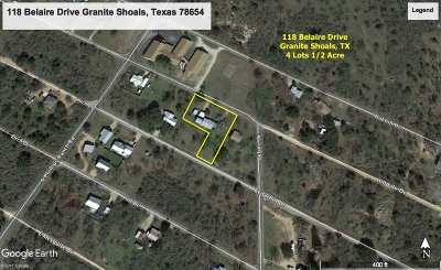 Granite Shoals Single Family Home Pending-Taking Backups: 118 Belaire Drive