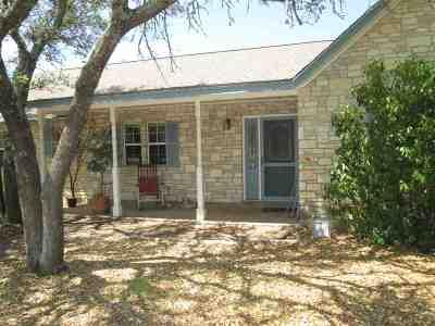 Burnet Single Family Home For Sale: 219 Thomas Ridge
