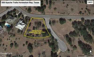 Horseshoe Bay Residential Lots & Land Pending-Taking Backups: 839 Apache Tears