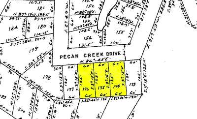 Horseshoe Bay Residential Lots & Land For Sale: Lots 174-176 Pecan Creek