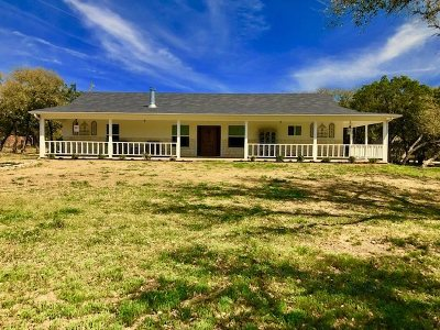 Burnet Single Family Home Pending-Taking Backups: 810 N Oak Vista
