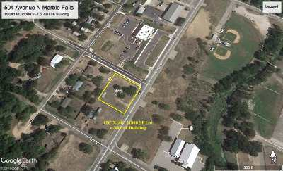 Marble Falls TX Residential Lots & Land For Sale: $170,000