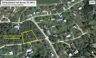 Burnet Residential Lots & Land For Sale: 108 Buckboard Trail