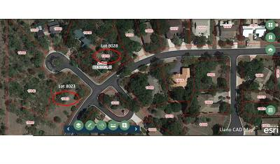 Horseshoe Bay Residential Lots & Land For Sale: Lots 8023&8028 Hi Circle West
